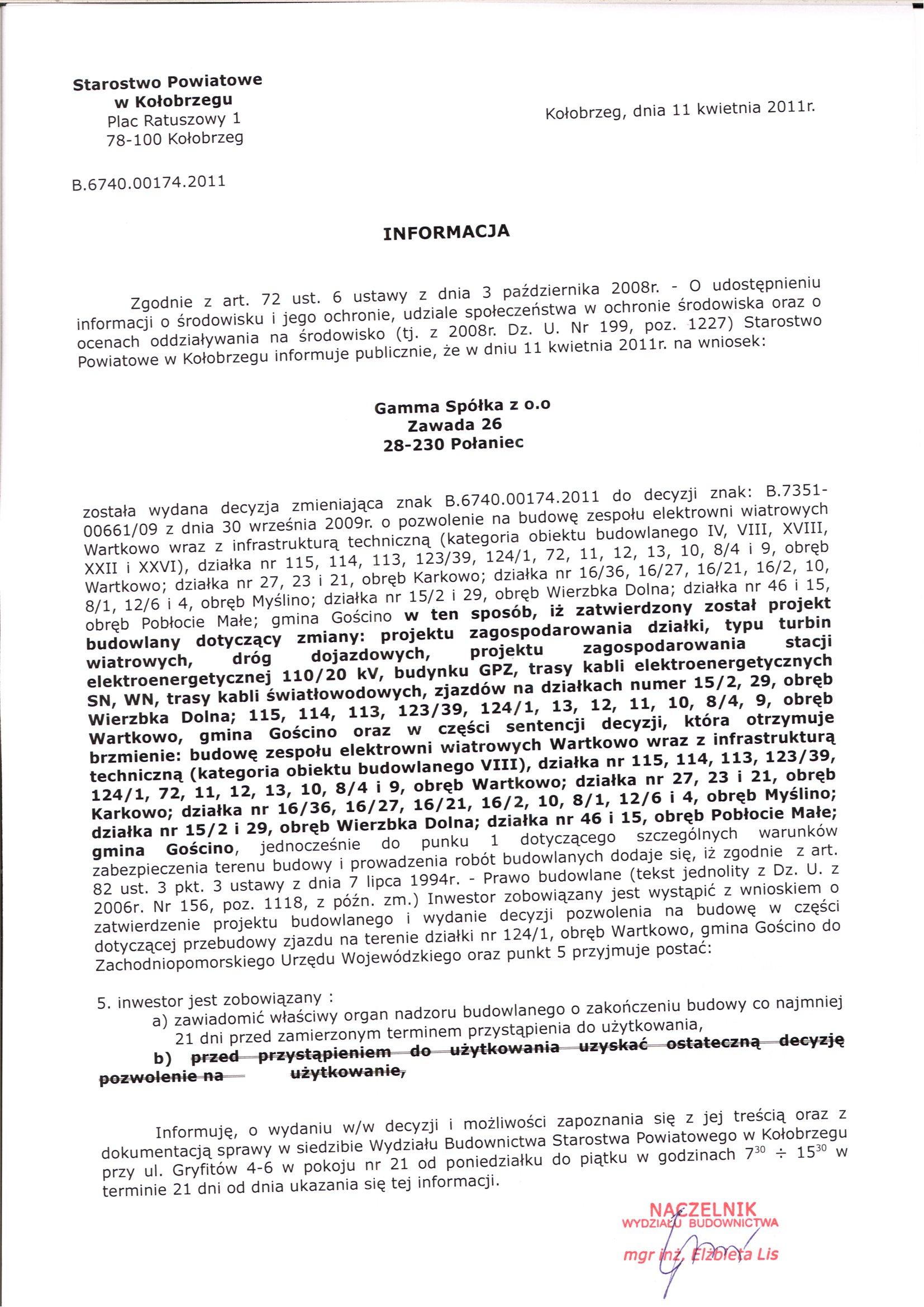Informacja nr 012/2013