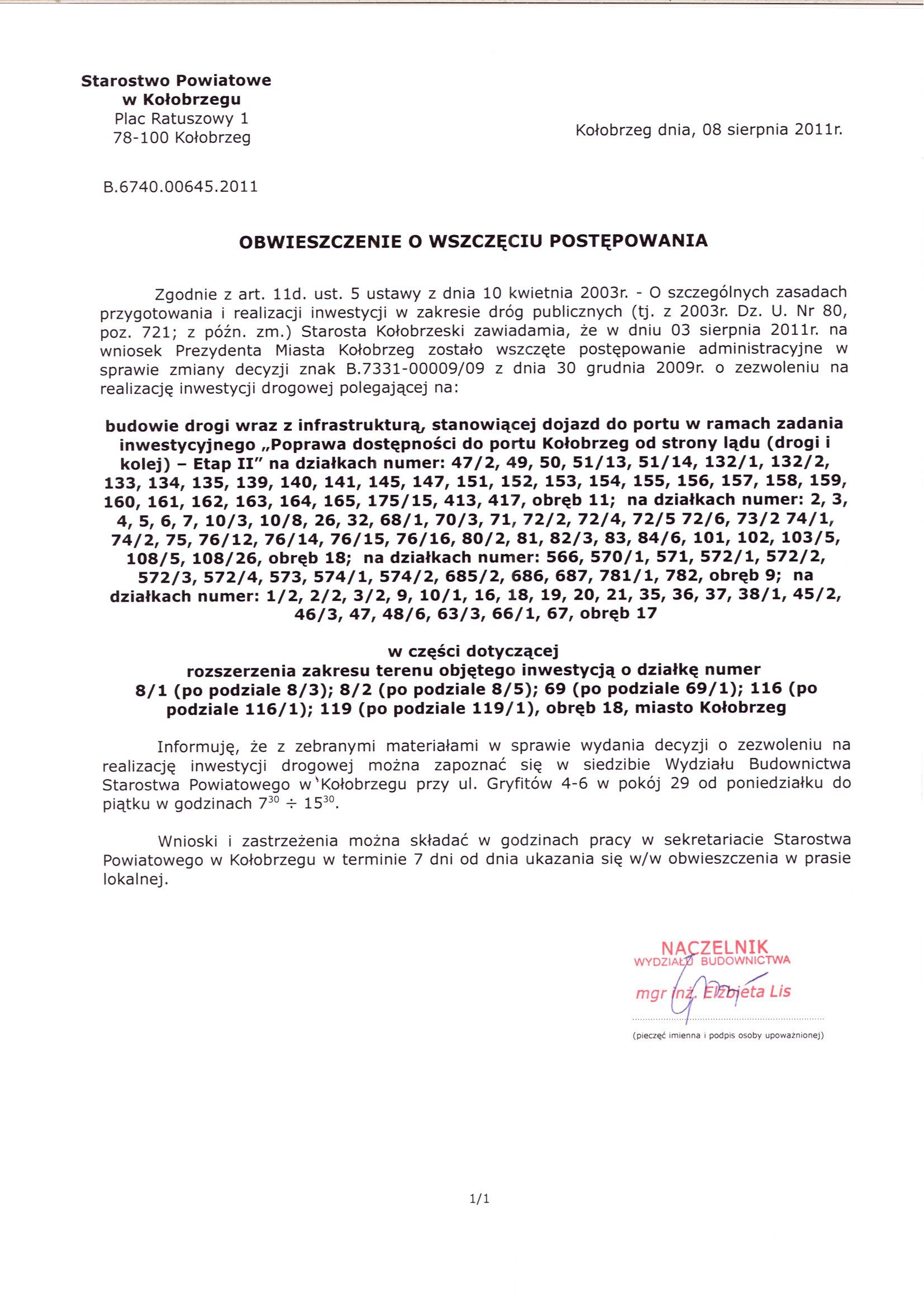 Informacja nr 010 2013